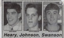 Heary, Johnson, Swanson Earn All-State Honors. April 27, 1994.