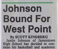 Johnson Bound For West Point. November 25, 1993.
