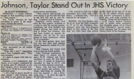 Johnson, Taylor Stand Out In JHS Victory. December 11, 1991.