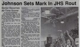 Johnson Sets Mark In JHS Rout. December 18, 1993.