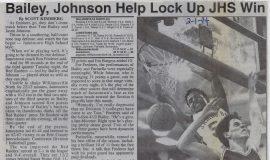 Bailey, Johnson Help Lock Up JHS Win. February 1, 1994.