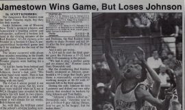 Jamestown Wins Game, But Loses Johnson. February 22, 1994.