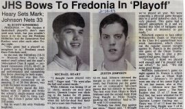 JHS Bows To Fredonia In 'Playoff'. February 19, 1993.