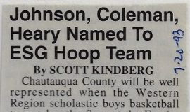 Johnson, Coleman, Heary Named To ESG Hoop Team. July 20, 1993.