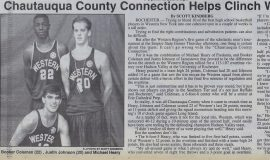 Chautuaqua County Connection Helps Clinch Wester Region Win. August 6, 1993.