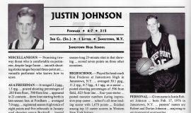 Justin Johnson bio at West Point. 1995-96.