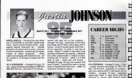 Justin Johnson bio at West Point. 1996-97.
