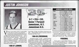 Justin Johnson bio at West Point. 1997-98.