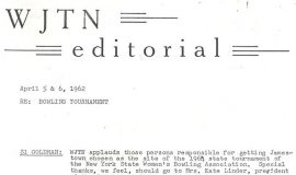 WJTN radio editorial. April 5 -6, 1962.