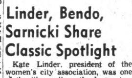 Linder, Bendo, Sarnicki Share Classic Spotlight.October 28, 1953.