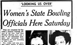 Women's State Bowling Officials Here Saturday. October 8, 1963.
