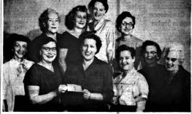 Women Bowl A Strike For Happiness Fund. November 28, 1957.