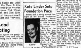Kate Linder Sets Foundation Pace.  February 14, 1958.