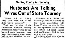 Husbands Are Talking Wives Out of State Tourney. February 20, 1952
