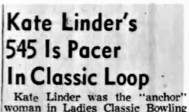 Kate Linder's 545 Is Pacer In Classic Loop. February 21, 1957.
