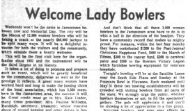 Welcome Lady Bowlers. March 13, 1964.