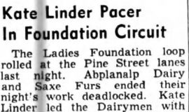 Kate Linder Pacer In Foundation Circuit.  September 24, 1948
