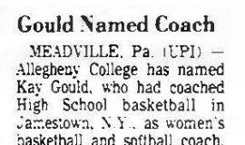 Gould Named Coach. June 9, 1980.