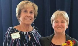 CSHOF inductees Kay Gould (left) and Sheilah Gulas at Meadville, PA
