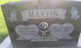 Ken Martin's burial marker.