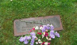 Oscar Carlson's gravesite.
