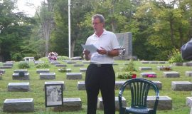 John Newman's son Jeff at John's gravesite.