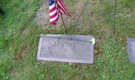 Tony LeVoie's gravesite.