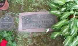 Clayt Webeck's gravesite.