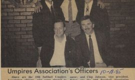 Umpires Association's Officers. October 18, 1985