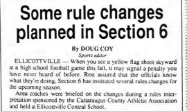 Some rule changes planned in Section 6.  August 17, 1994.