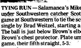 Tying Run. May 2, 1974.