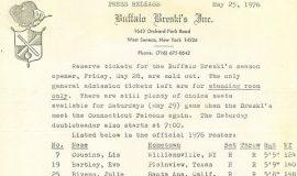 Buffalo Breski's 1976 Roster