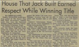 House That Jack Built Earned Respect While Winning Title. 1991.