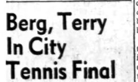 Berg, Terry In City Tennis Final.  8-23-63