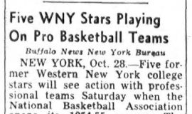 Five WNY Stars Playing On Pro Basketball Teams. October 28, 1954.