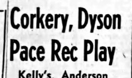 Corkery, Dyson Pace Rec Play. November 27, 1956.