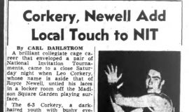 Corkery, Newell Add Local Touch to NIT.  March 18, 1952.