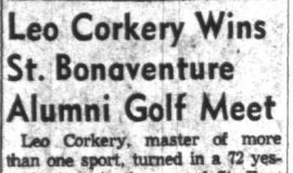 Leo Corkery Wins St Bonaventure Golf Meet.  July 7, 1960.