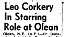 Leo Corkery In Starring Role at Olean. March  1952.