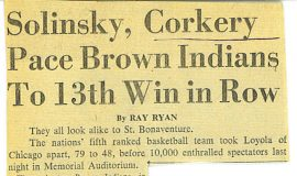 Solinsky,  Corkery Pace Brown Indians To 13th Win in Row.