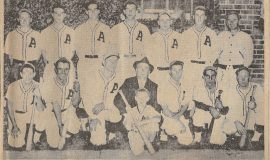 1938 County League Class AA Champions. Leo Squinn is second from the left in the bottom row.
