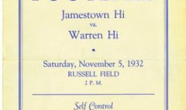 1932 Jamestown High School program cover