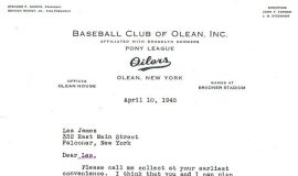 Letter following signing. April 10, 1945.