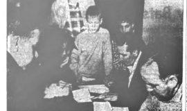 Little Leaguers Sign. April 4, 1953.