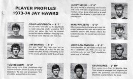 Jamestown Community College basketball player profiles. 1973-1974.