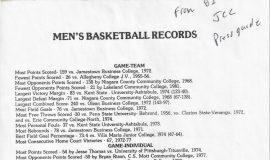 Jamestown Community College Mens Basketball Records Mens Basketball Records.