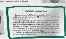Jamestown Community College Men's Basketball coaches, 1982-83.