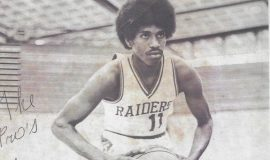 Lewis Mack at Middle Tennessee State University.  1975.