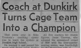 Coach at Dunkirk Turns Cage Team Into a Champion. 1973.