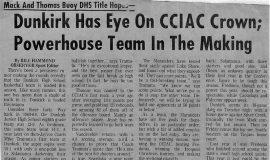 Dunkirk Has Eye On CCIAC Crown; Powerhouse Team In The Making. 1972.